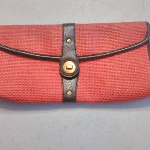Clutch Handbag by Avenue Faux Leather Accents